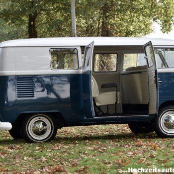 blauw retro Volkswagen busje