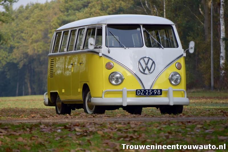 gele VW T1 bus
