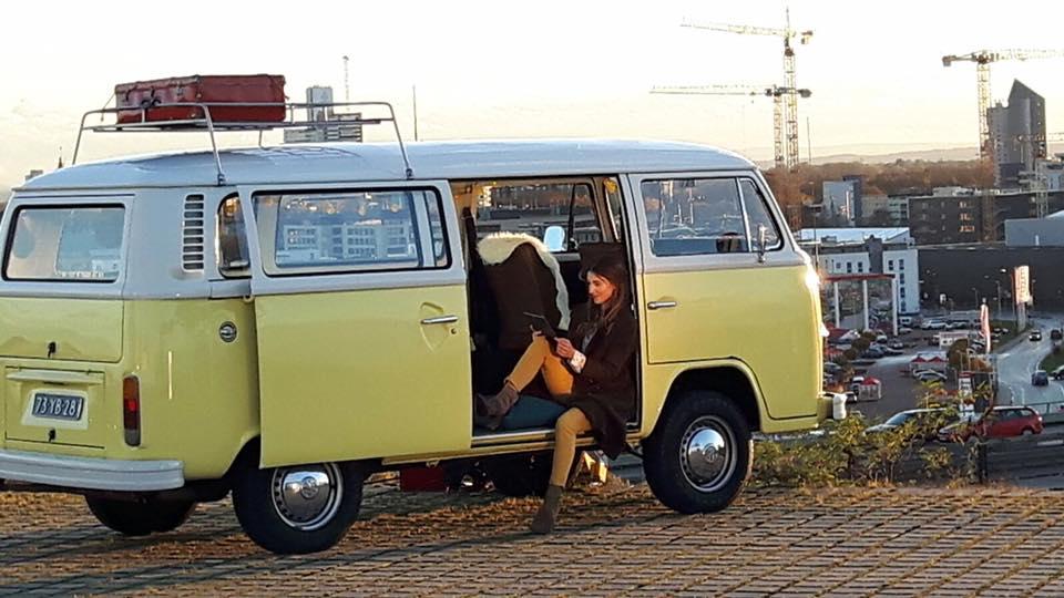 reclamedoeleinden, beurs promotie of film gele VW bus