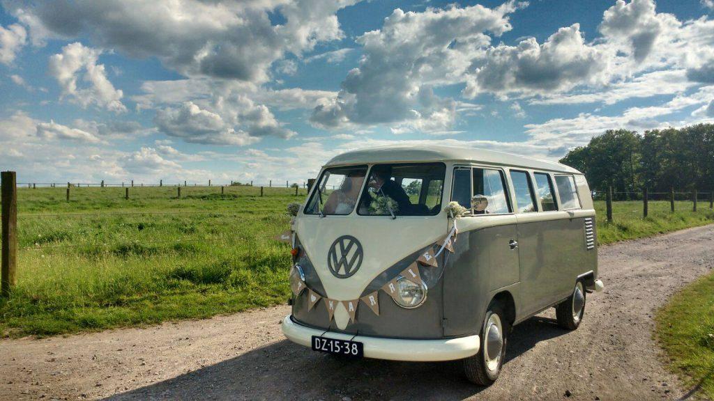 hippie busje huren als trouwauto